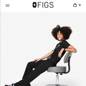 FIGS Large Livingston pant + Medium Casma top